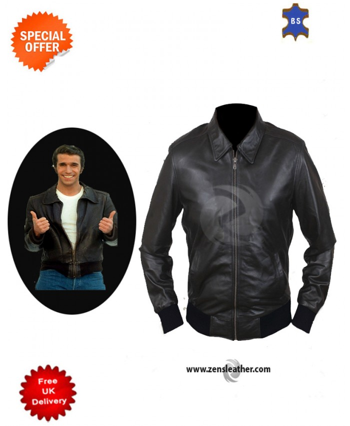 Happy Days Fonzie Men's Stylish Genuine Leather Jacket Chopper jacket