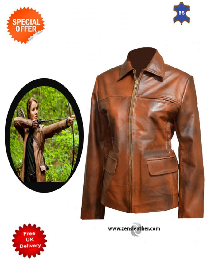 Jennifer Lawrence Brown Stylish Look jacket brown ladies Leather Jacket
