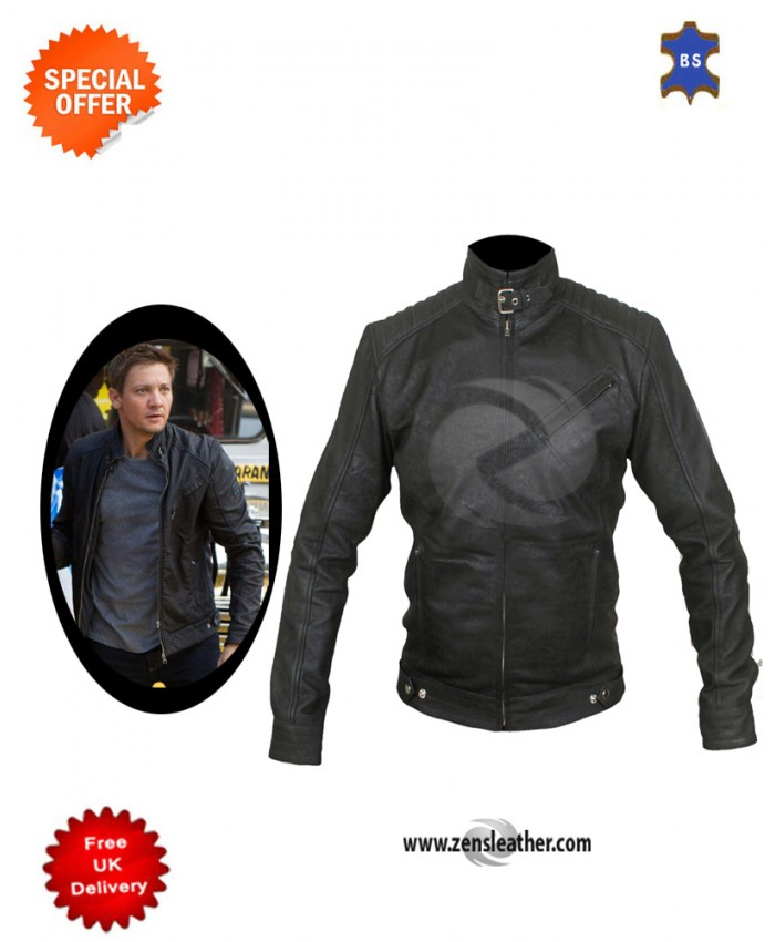 Bourne Legacy style Leather Jacket similar to jeremy renner leather jacket