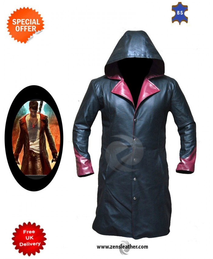 Devil May Cry Dante Genuine Sheep leather coat