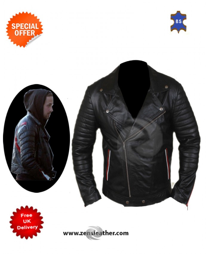 RYan Gosling  Leather Ultimate Bomber Biker Motorcycle Jacket Genuine Leather