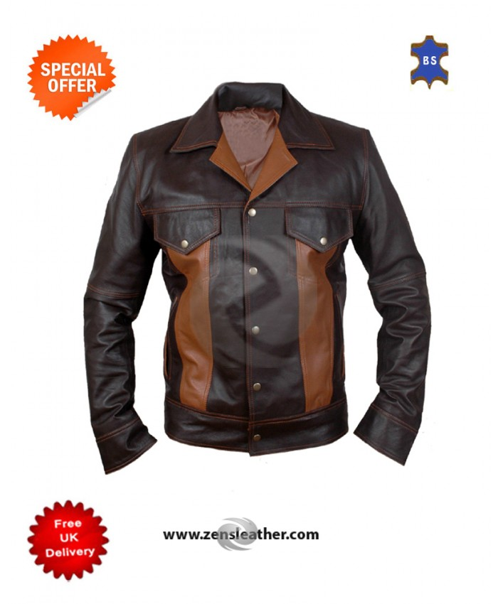 Men's Genuine Real Sheep Leather Fashion Jacket