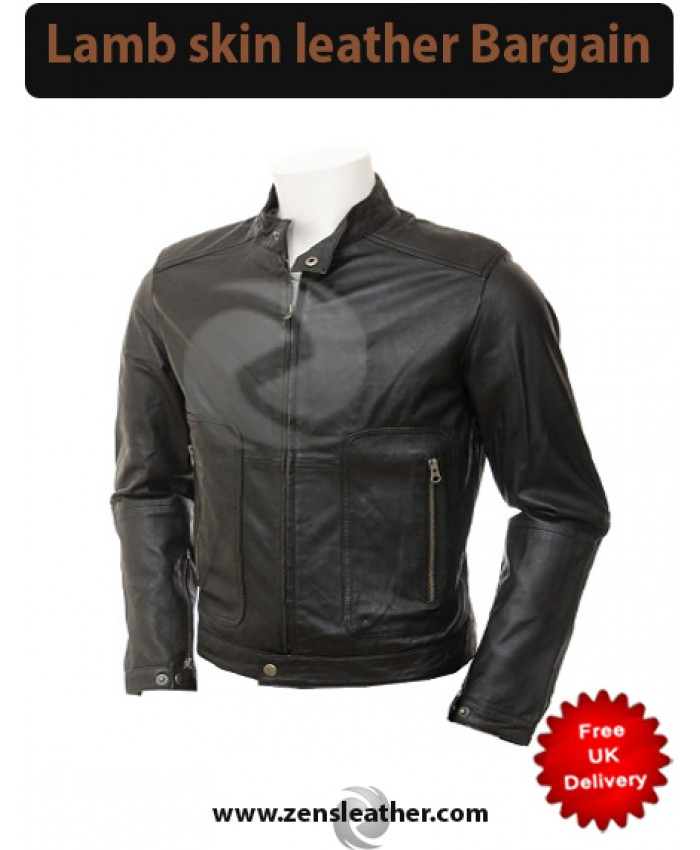 Fashion black leather jacket