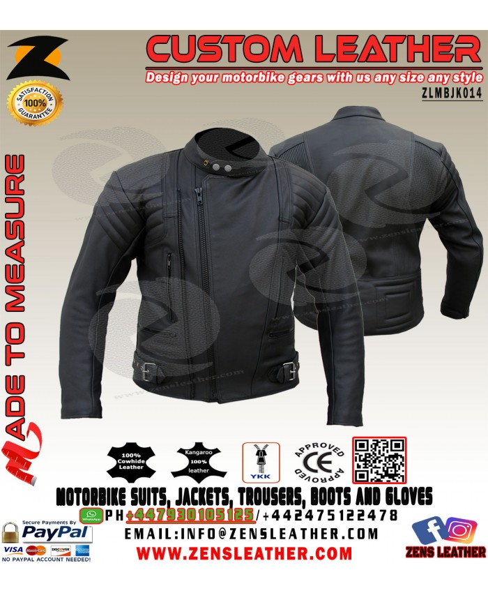 The Terminator Leather Biker Jacket Arnold style leather jacket classic motorbike jacket