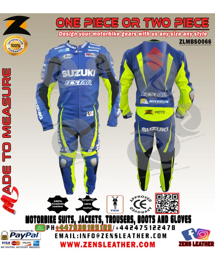 Andrea Iannone Suzuki MotoGP racing suit gsxr motorbike leather apparel