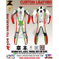 Motorbike leather suit in green motogp racing 2018 leather suit other colour are also available