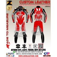 Yamaha motorbike leather suit GPmoto racing leather suit yamaha red and black racing leather gear