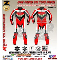 Motorbike one piece racing leather suit red two piece motorcycle gears free UK delivery