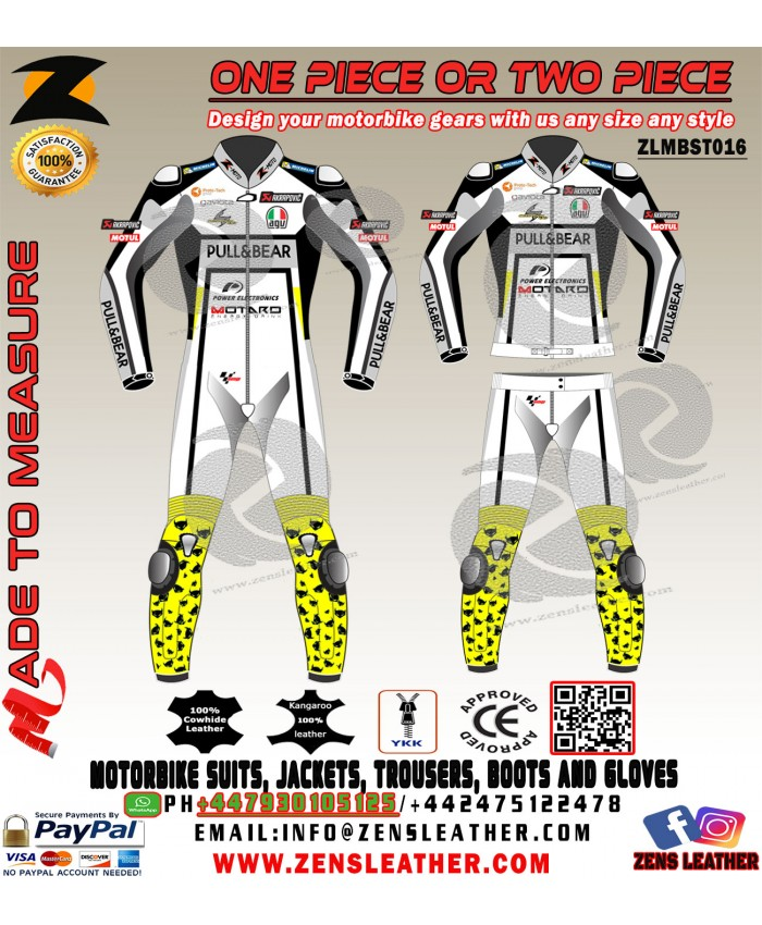 Alvaro Bautista style racing wear MotoGP 2017 Leather Suit one piece or two piece