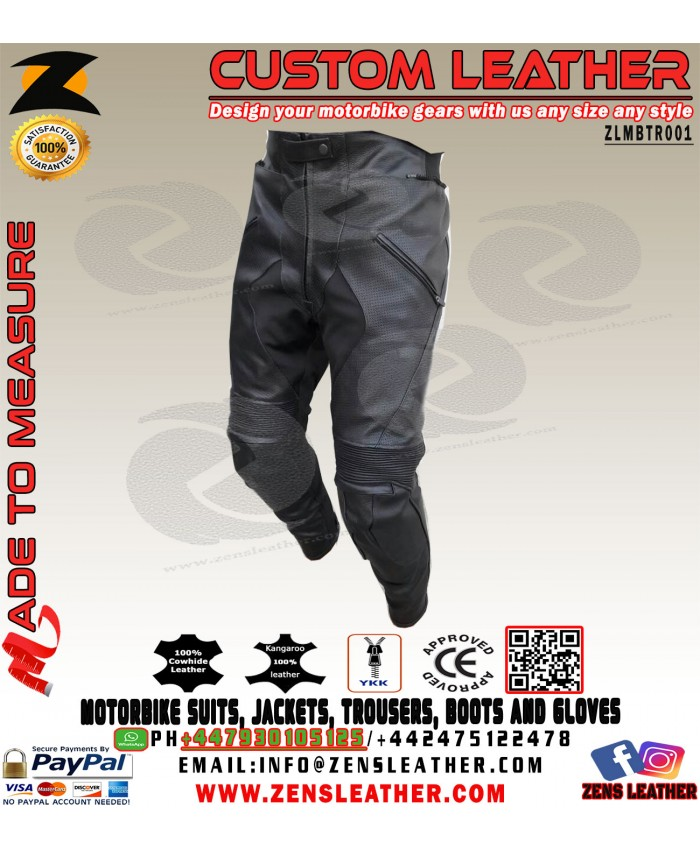 Motorcycle Leather Trouser racing leather pants any size