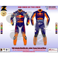 Red bull KTM style motorbike leather suit customize your leather suit