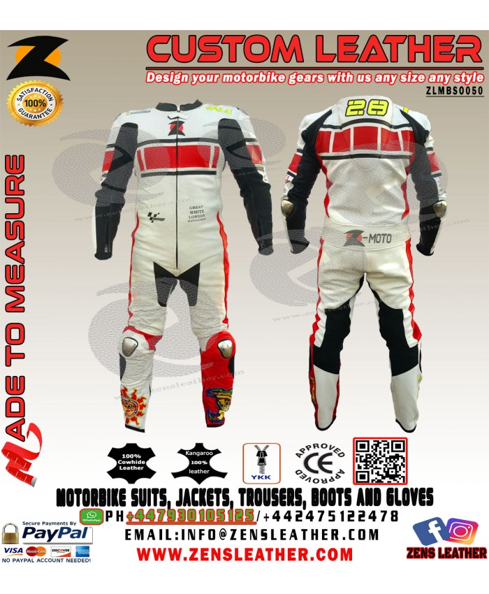 Racing leather suit motorbike gears free uk delivery any size any colour yamaha style motorcycle suit