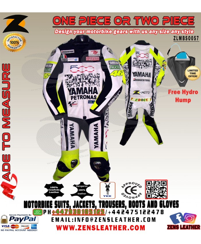 Yamaha petronas one piece motorbike leather suit yamaha faces leather suit with hydro hump