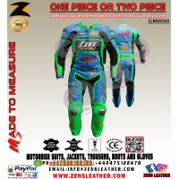Tm racing leather suit supermotard racing gears any size and colour