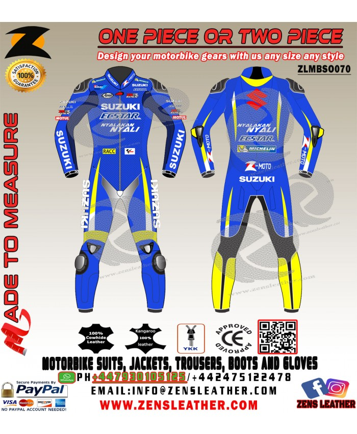 ALEX RINS SUZUKI ECSTAR LEATHER RACE SUIT  MOTOGP 2018