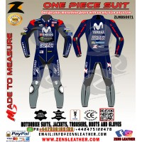 Maverick Vinales Movistar Yamaha MotoGP style 2017 leather racing Suit