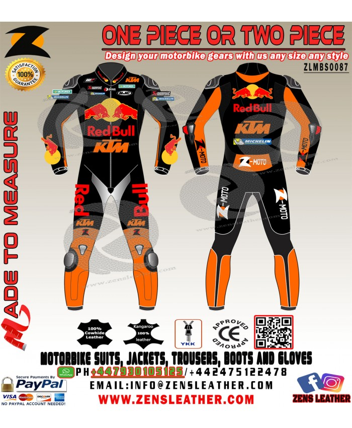 POL ESPARGARO KTM RED BULL MOTOGP leather suit style any size racing gears