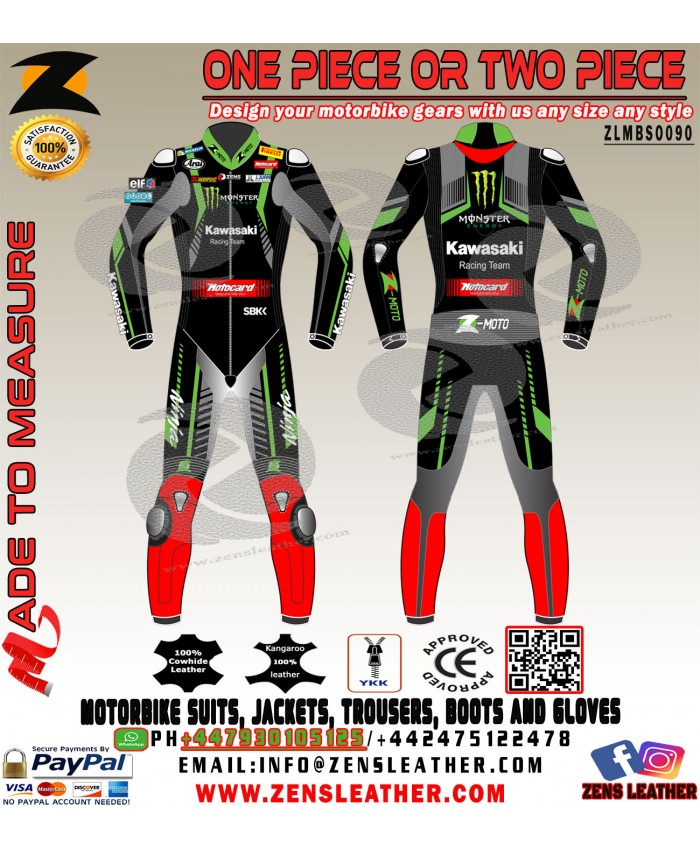 JONATHAN REA NINJA MOTOCARD SBK 2018 LEATHER RACE SUIT ONE PIECE APPAREL