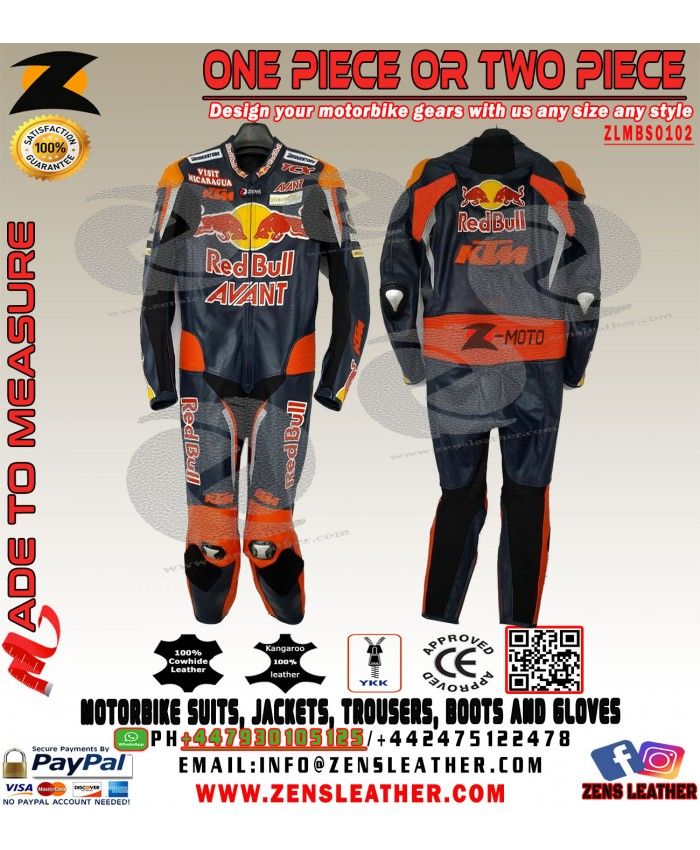 KTM racing leather suit Brad Binder red bull KTM MOTO3 style suit