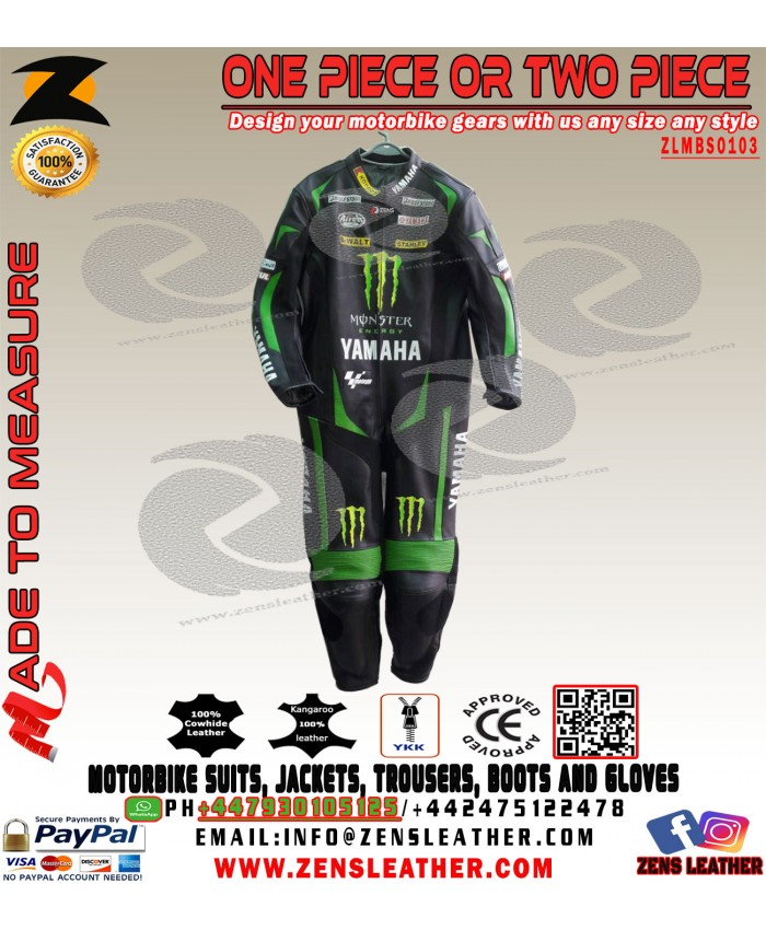 Yamaha monster tech 3 leather suit like JOHANN ZARCO motogp 2017