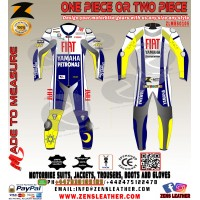 Yamaha petronas style rossi motorbike leather suit fiat racing gear