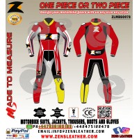 Red motorbike apparel match with honda yamaha bike one piece or two piece
