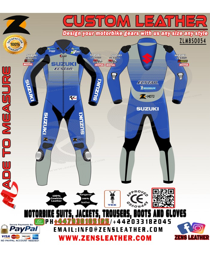 Zens Alex Rins Suzuki Ecstar MotoGP 2020 Leather Racing Suit