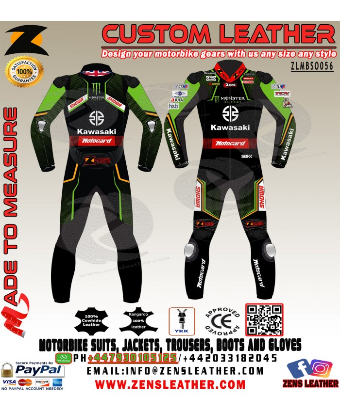 JONATHAN REA KAWASAKI WSBK Motorbike LEATHER RACING SUIT MOTOGP 2020