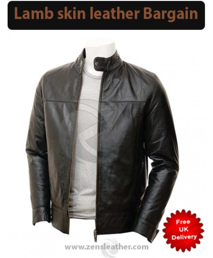 Black Men's Beautiful Fashion bomber Leather Jacket