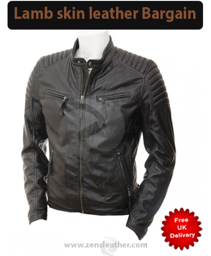 New Men's beautiful looking chopper stylish Black Fashion leather Jacket
