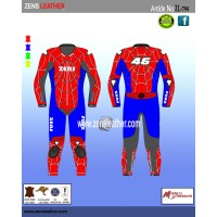 Spider man style motor bike suit motorbike leather racing suit