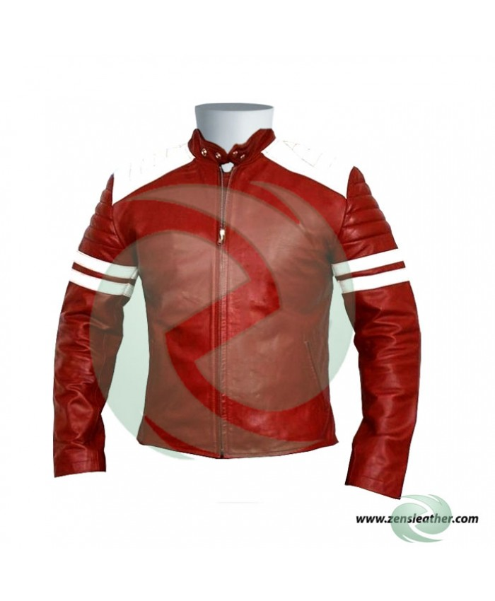 Fight club style leather jacket brad pitt style biker jacket