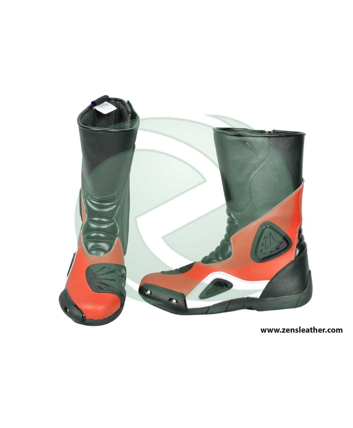 Red racing boots match with your ducati bike motorcycle riding shoes