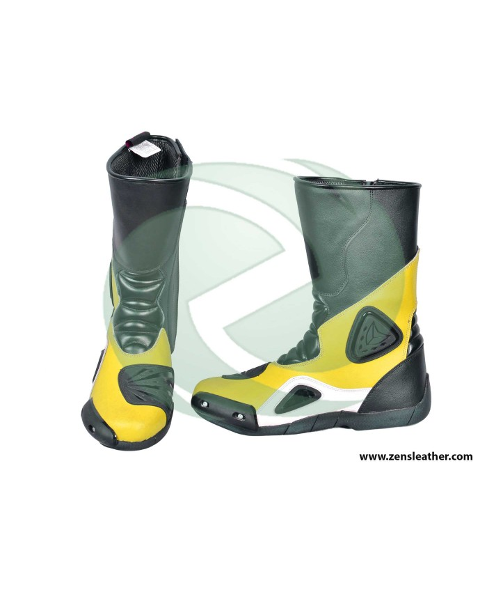 Yellow racing boots match with your bike yamaha motorcycle any size