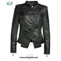 Ladies Fashion Leather Jacket spikes jacket