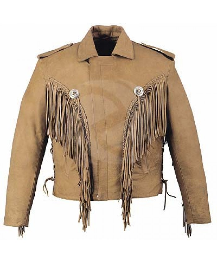 Mudy western motorbike leather jacket