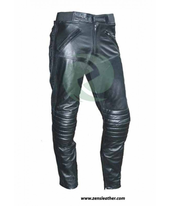 Motorbike classic Leather Trouser classic leather pants any size