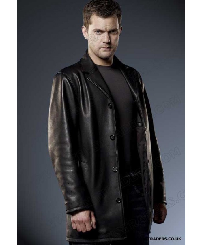 Fringe Peter bishop leather coat stylish looking coat