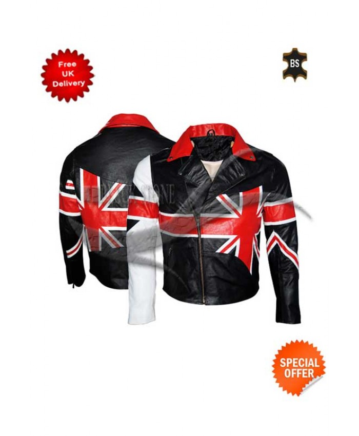 Men UNION JACK Brando Jacket