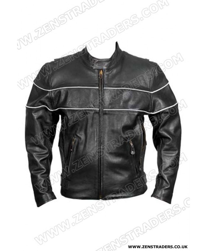 Cafe racer motorbike Leather Jacket