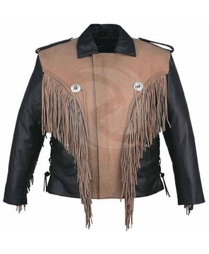 Stylish western motorbike leather jacket