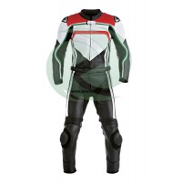 Motorbike two piece racing leather suit track leather suit