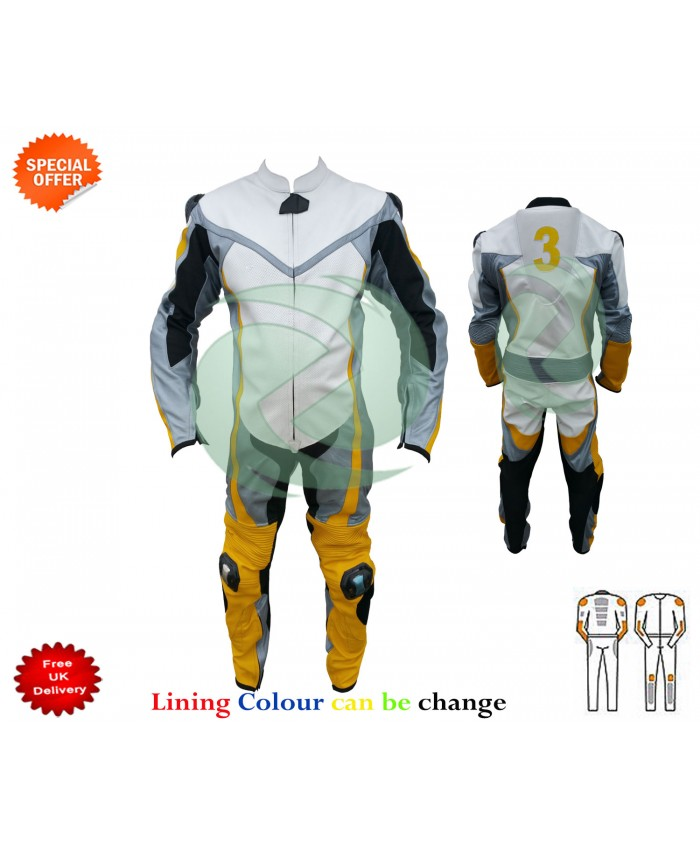 Customized motorbike leather suit