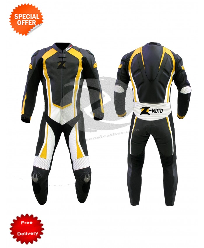 Customized Motorbike leather suit racing style with speed hump