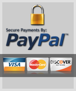 We Accept: PayPal, Visa, Master